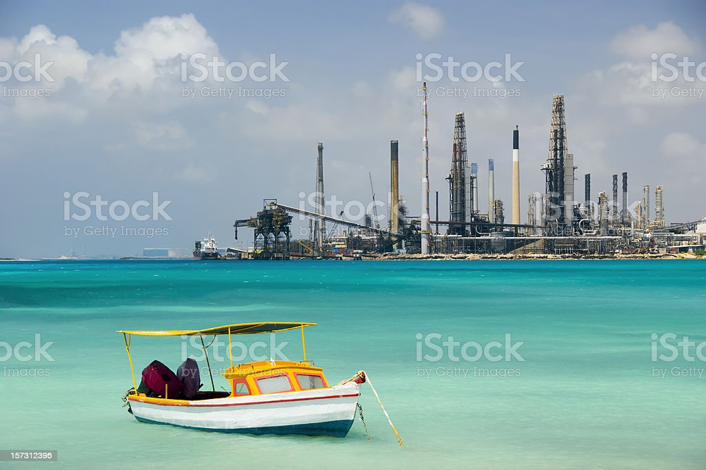 Oil Refinery in Paradise royalty-free stock photo