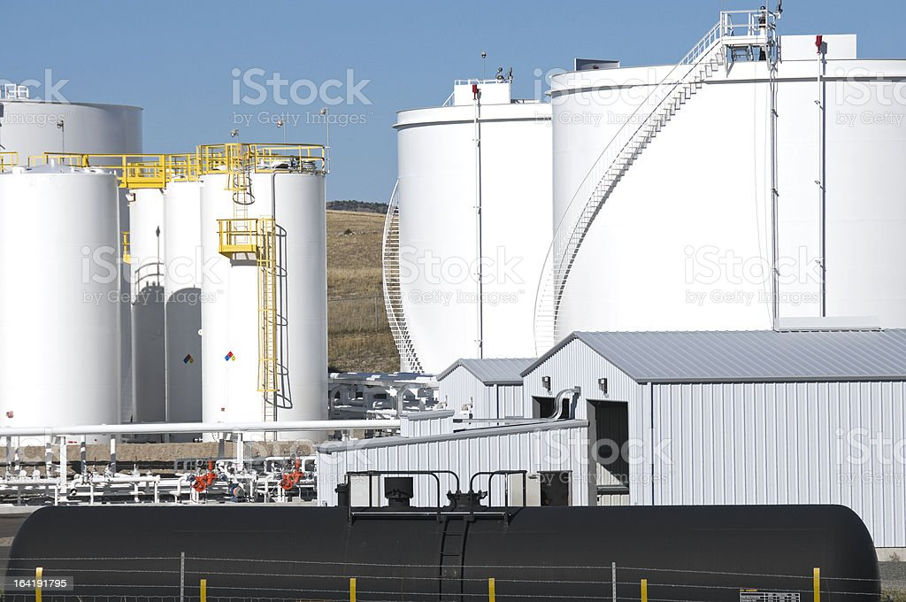Oil refinery in Wyoming royalty-free stock photo
