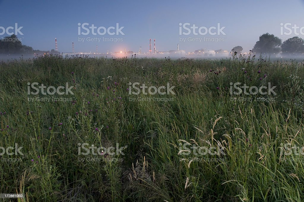 Oil Refinery on the horizon royalty-free stock photo