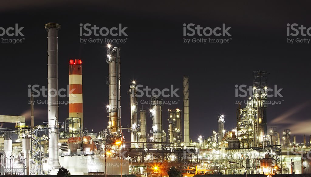 Oil refinery - petrochemical industry royalty-free stock photo