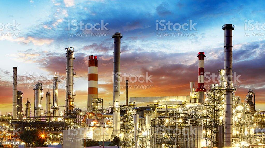 Oil refinery stock photo