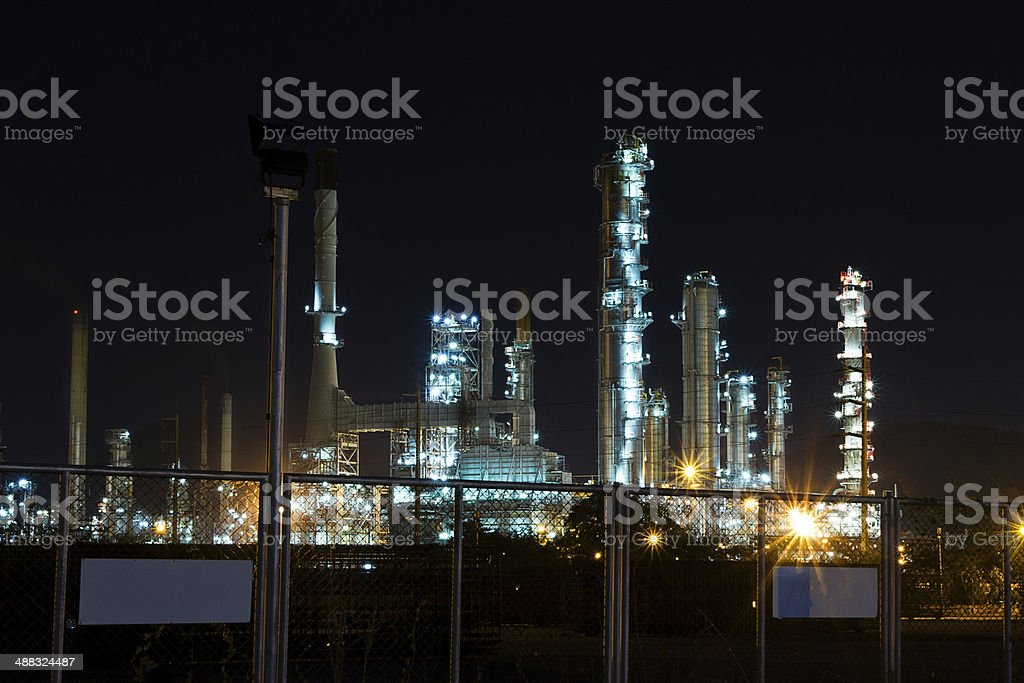 oil Refinery plant with Power generator at chalburi thailand stock photo