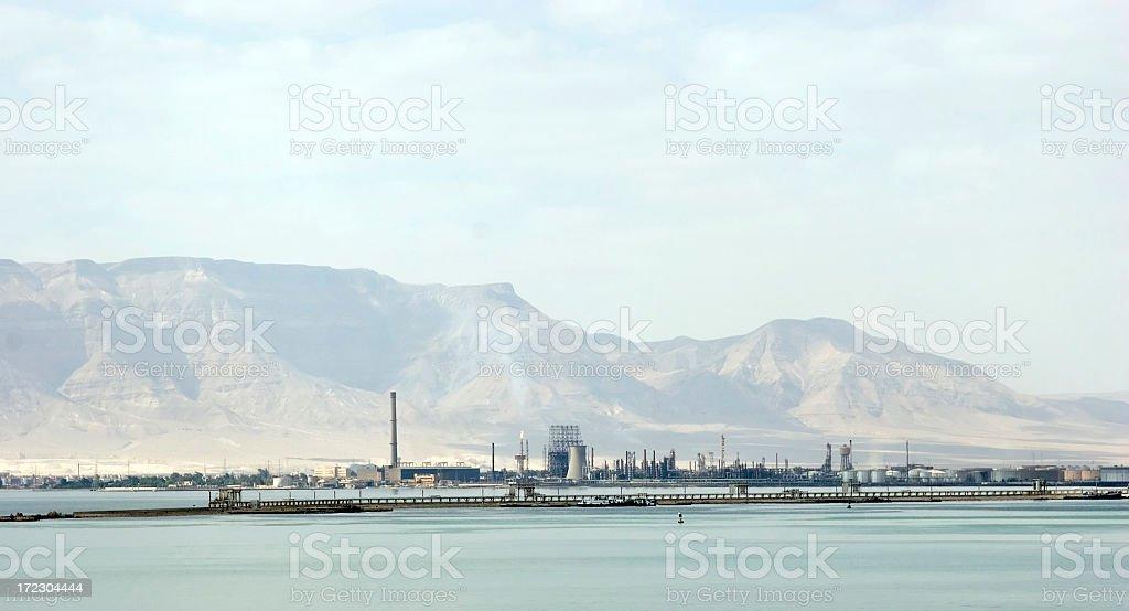 Oil refinery, Suez, Egypt stock photo