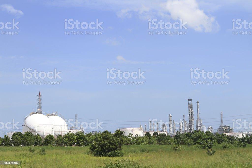 Oil refinery tanks photo royalty-free stock photo