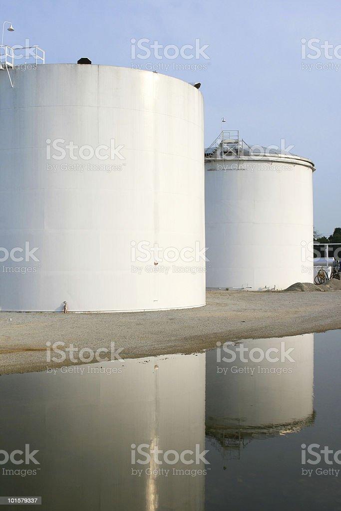 Oil Refinery Tanks royalty-free stock photo