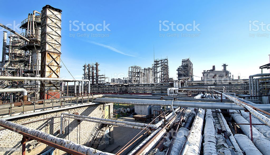 oil refining factory royalty-free stock photo