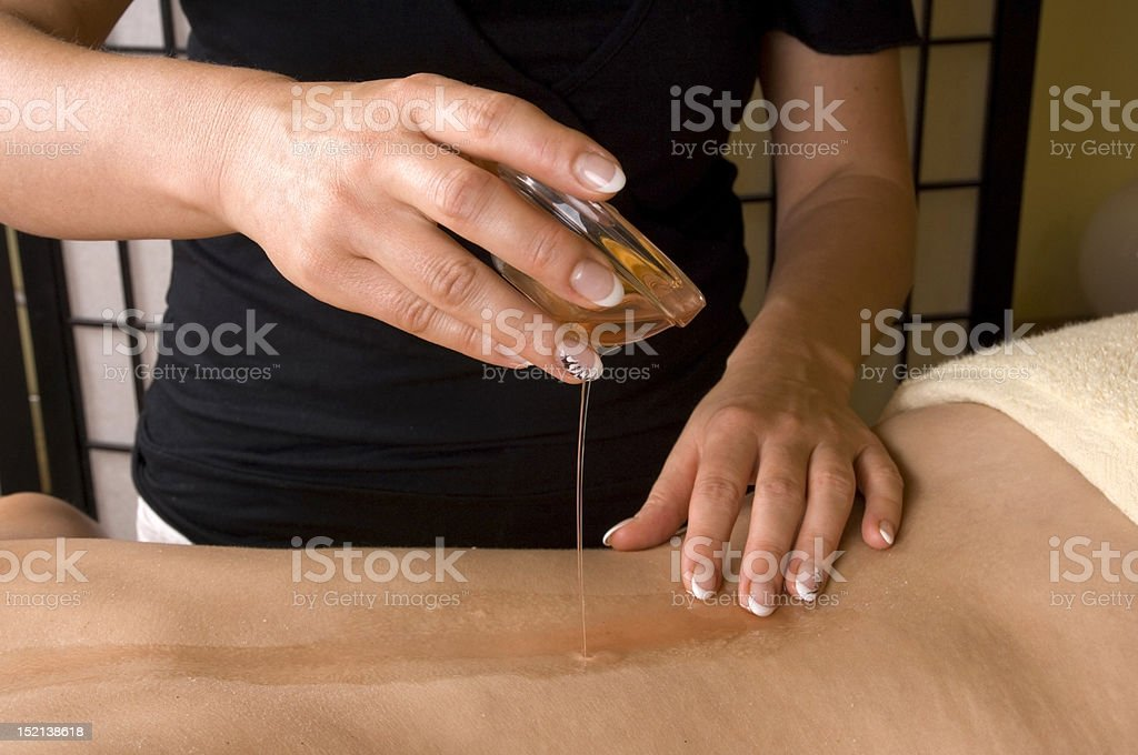 oil relax massage stock photo