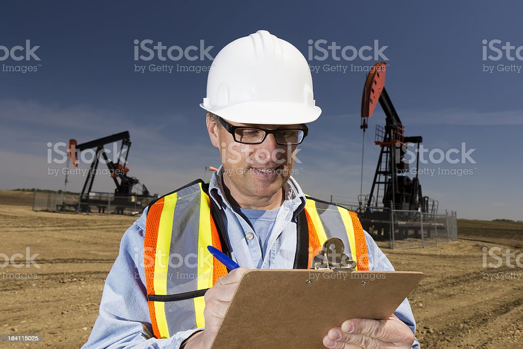 Oil Report royalty-free stock photo