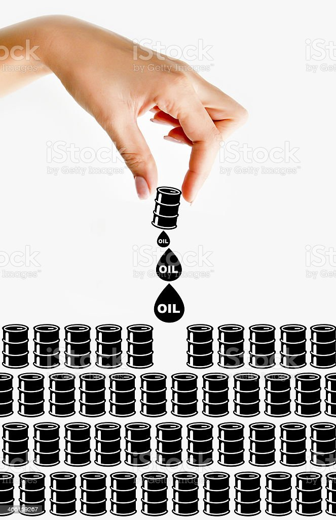 oil resources concept stock photo