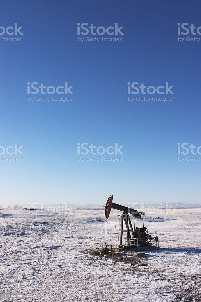 Oil Rig, Alberta Winter royalty-free stock photo