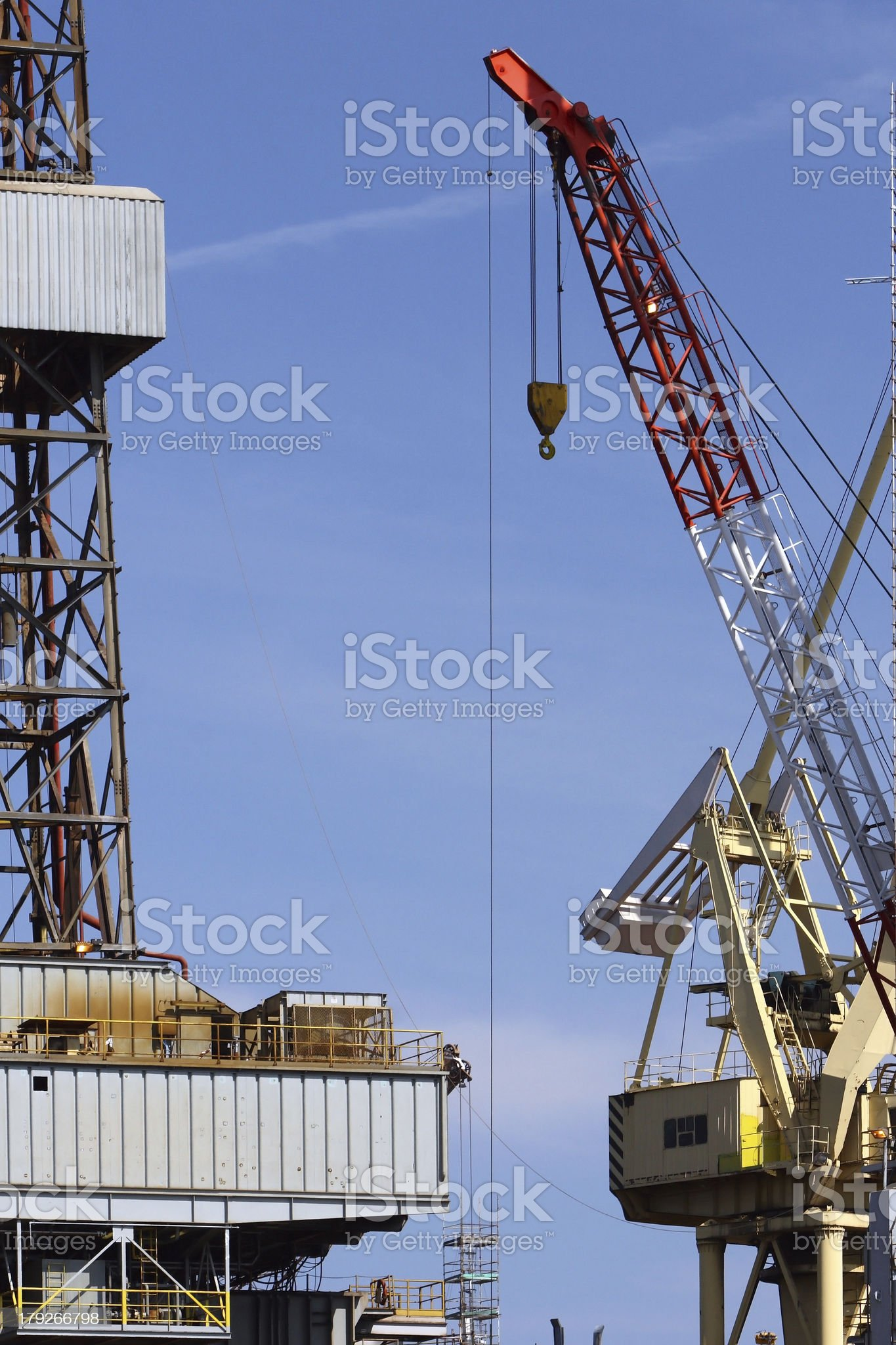 Oil Rig and hook royalty-free stock photo