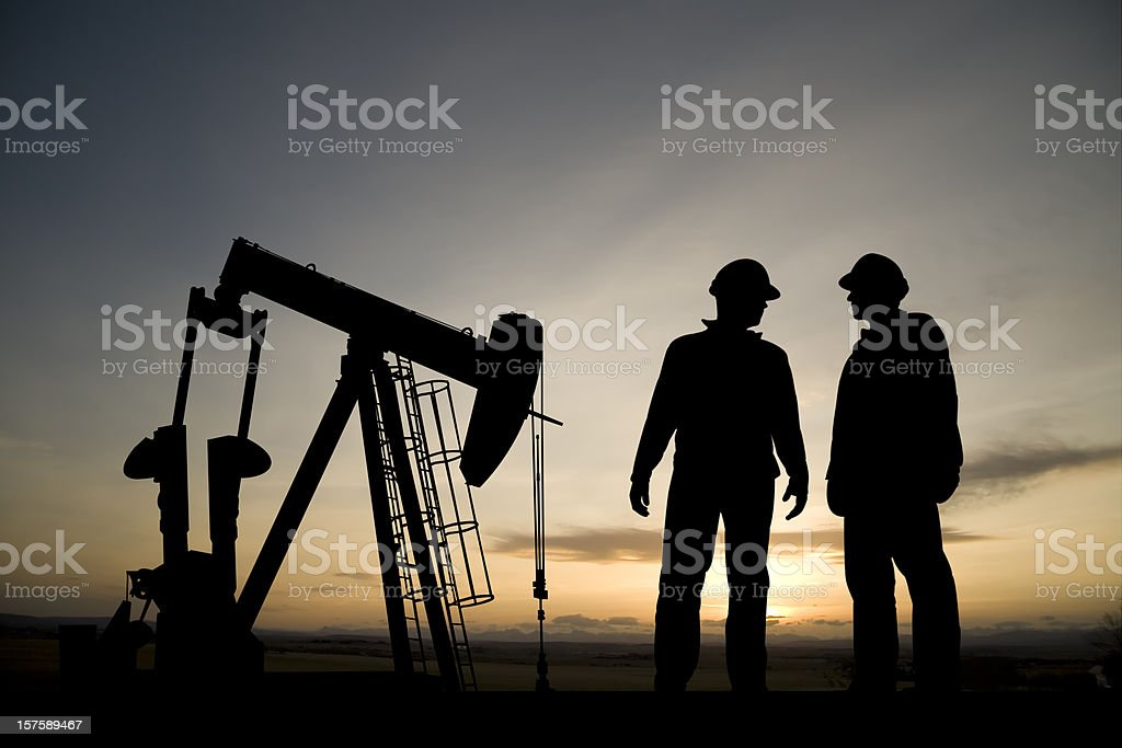 Oil Rig at Dusk royalty-free stock photo