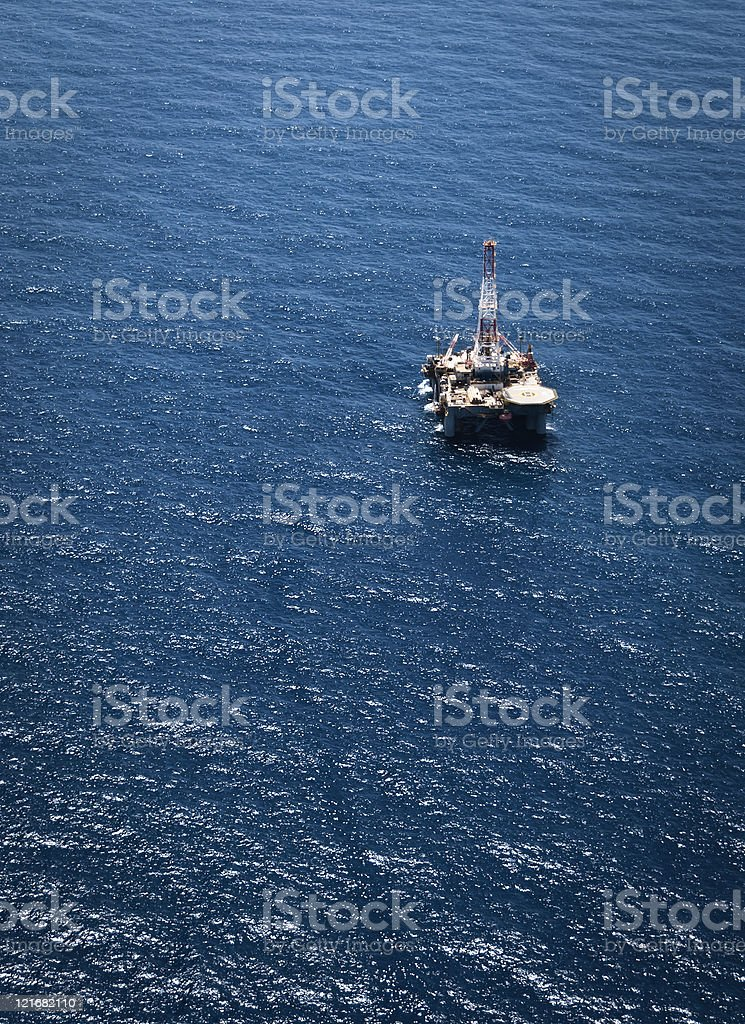Oil Rig at Sea stock photo