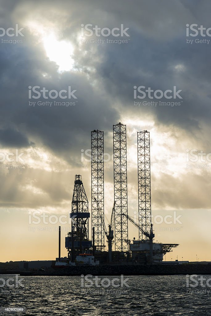 Oil Rig Construction stock photo