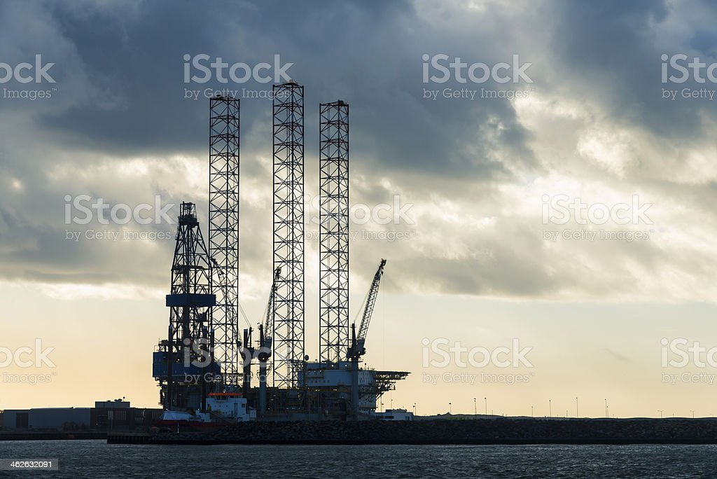 Oil Rig Construction royalty-free stock photo