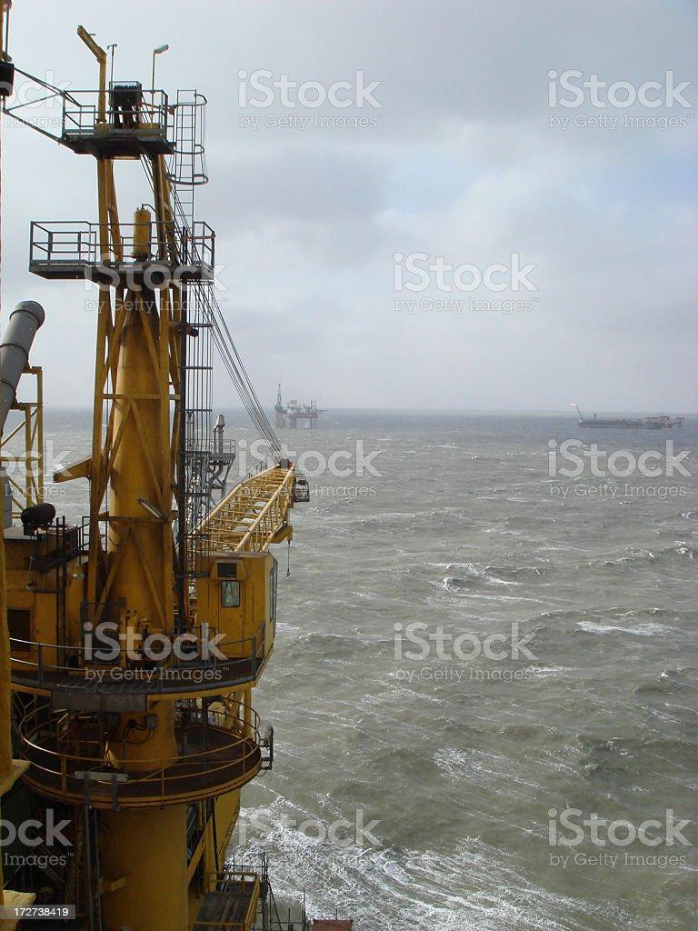 Oil rig Crane stock photo