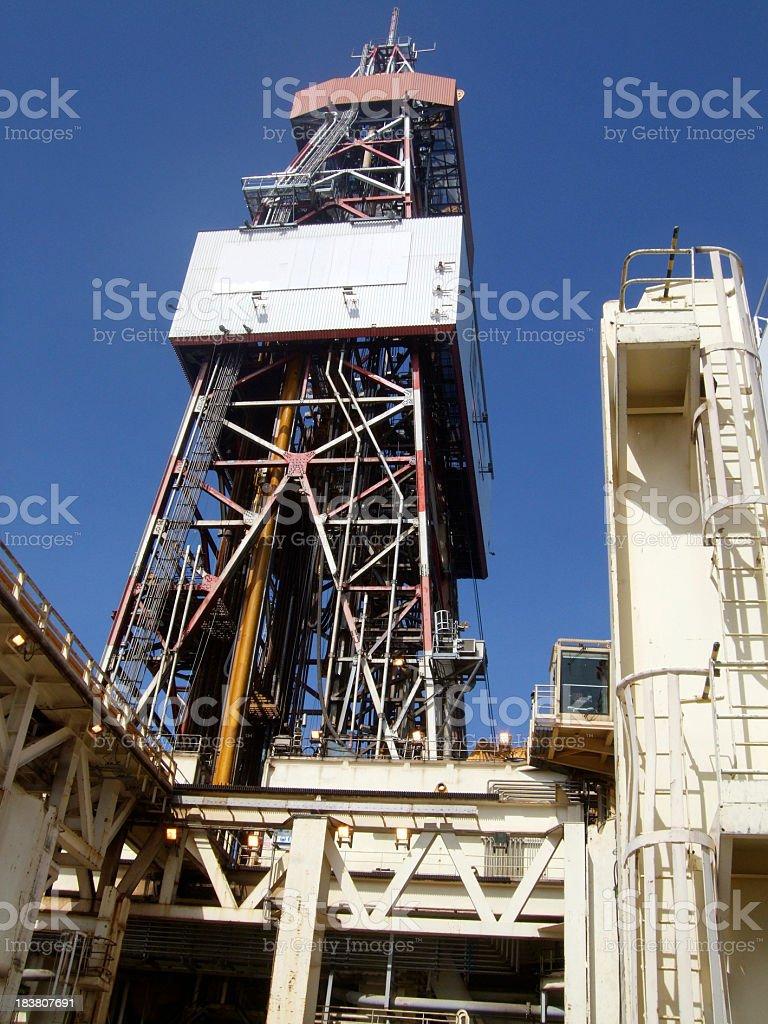 Oil rig Derrick stock photo