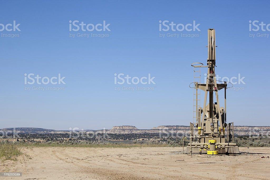oil rig desert landscape royalty-free stock photo