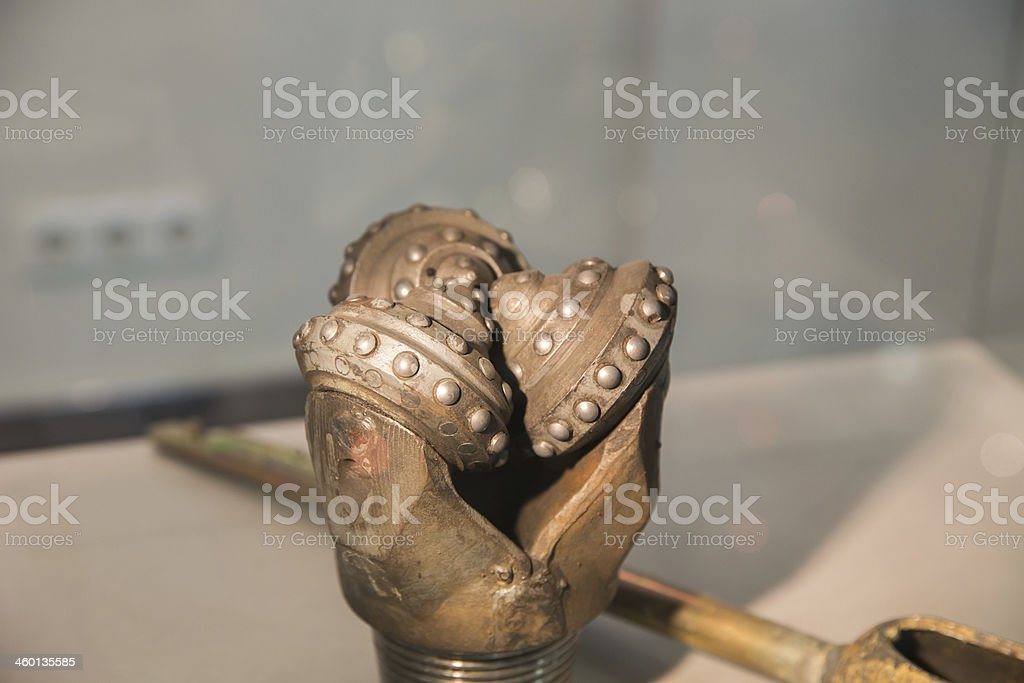 oil rig drill bit stock photo