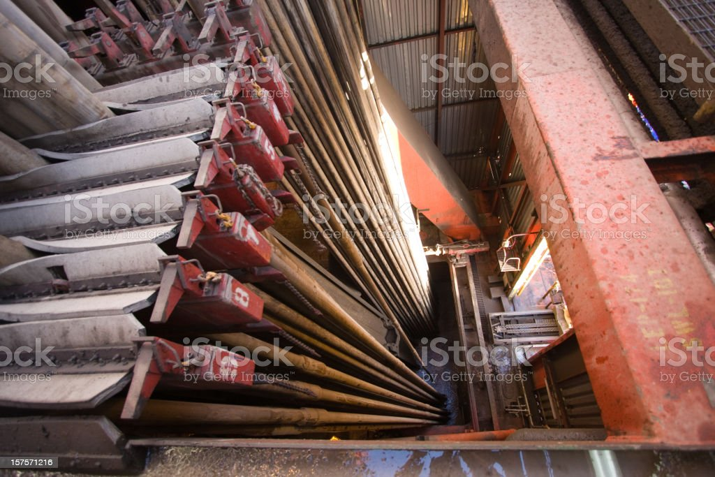 oil rig drill pipe royalty-free stock photo