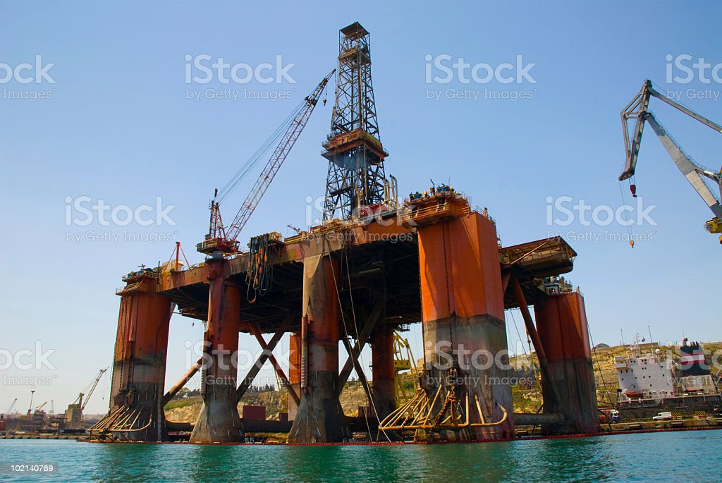 Oil Rig Drilling Platform royalty-free stock photo