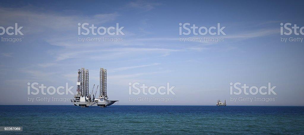 Oil Rig Drilling Platform royalty-free stock photo