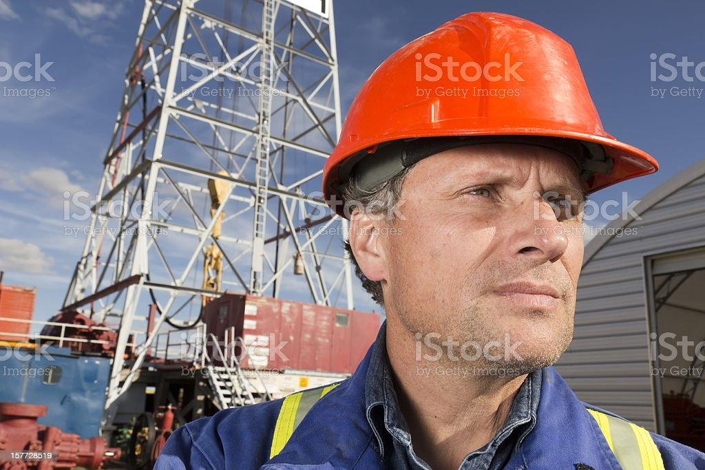 Oil Rig Foreman royalty-free stock photo