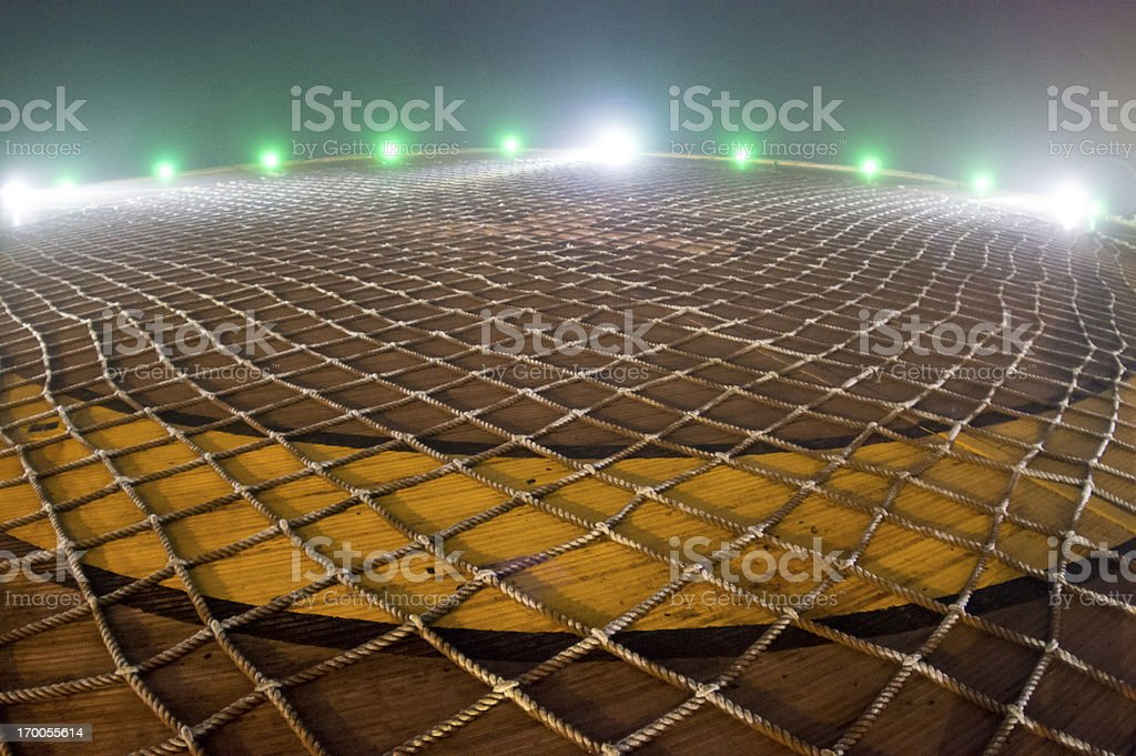 oil rig helideck royalty-free stock photo