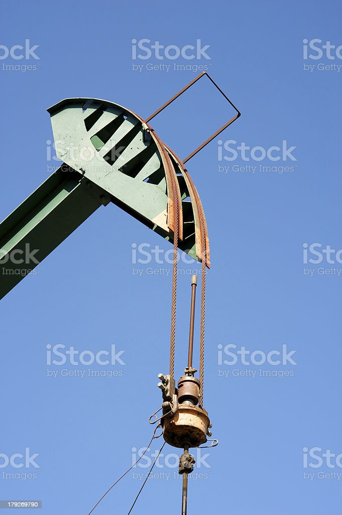 Oil Rig in California royalty-free stock photo