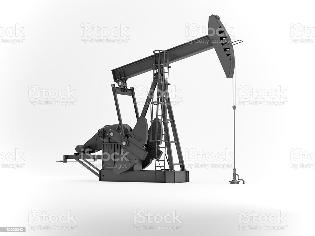 oil rig on white stock photo