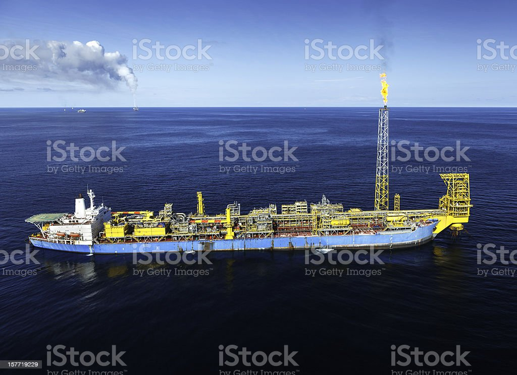 FPSO Oil Rig royalty-free stock photo