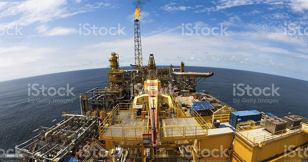 FPSO Oil Rig stock photo