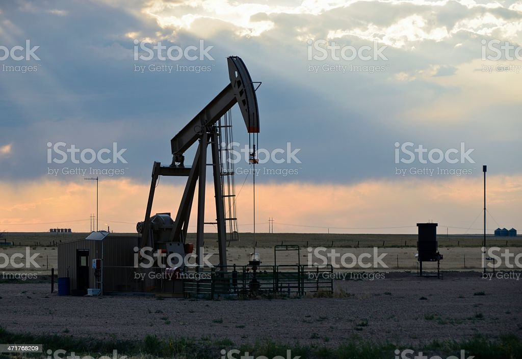 Oil Rig royalty-free stock photo
