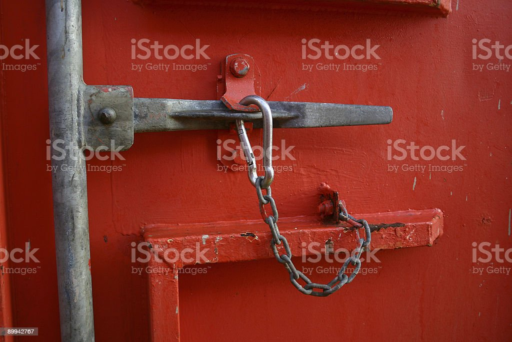 oil rig platform close handle on a container stock photo