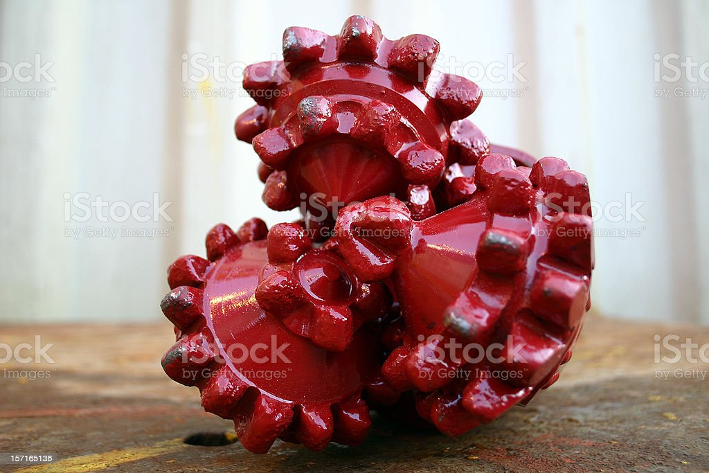 oil rig platform drill bit close up teeth detail royalty-free stock photo