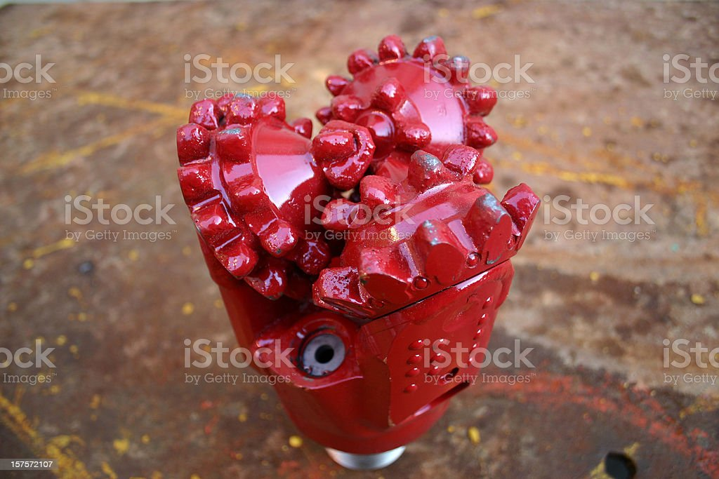 oil rig platform drill bit close up teeth detail royalty-free stock photo