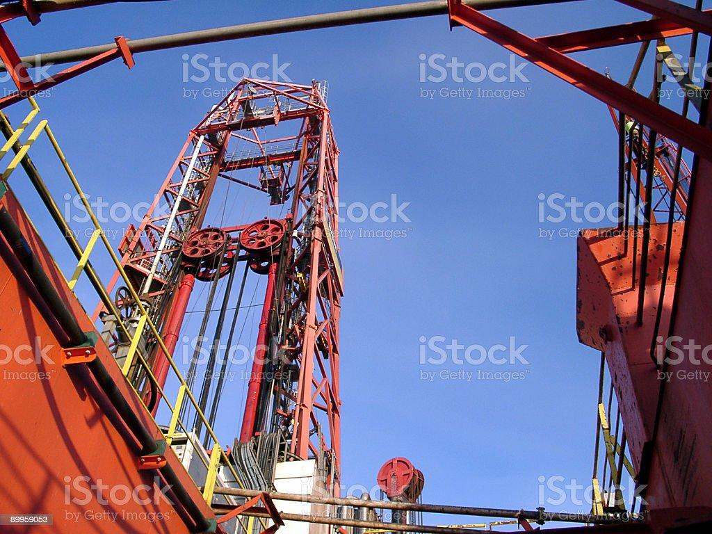 oil rig platform drilling derrick royalty-free stock photo