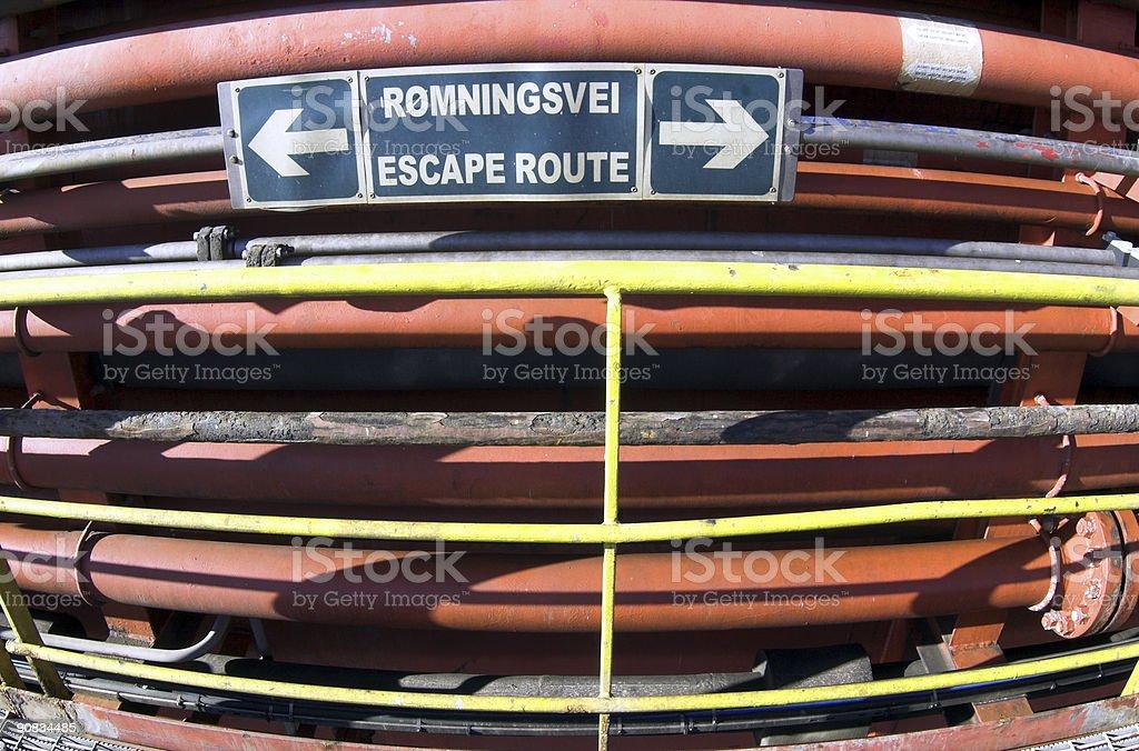 oil rig platform emergency escape royalty-free stock photo