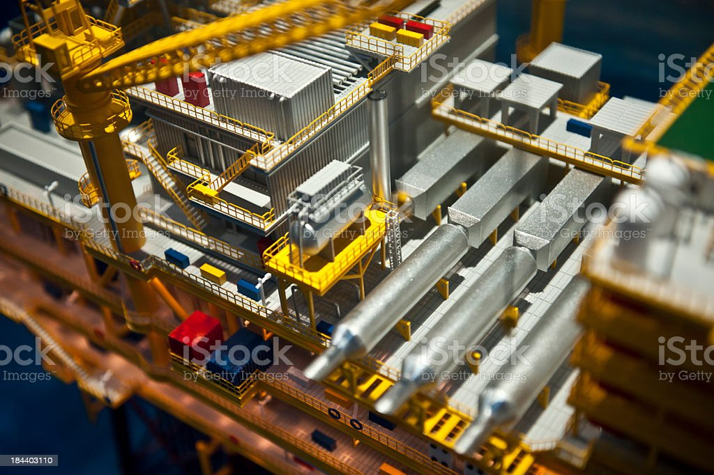 Oil Rig Platform royalty-free stock photo