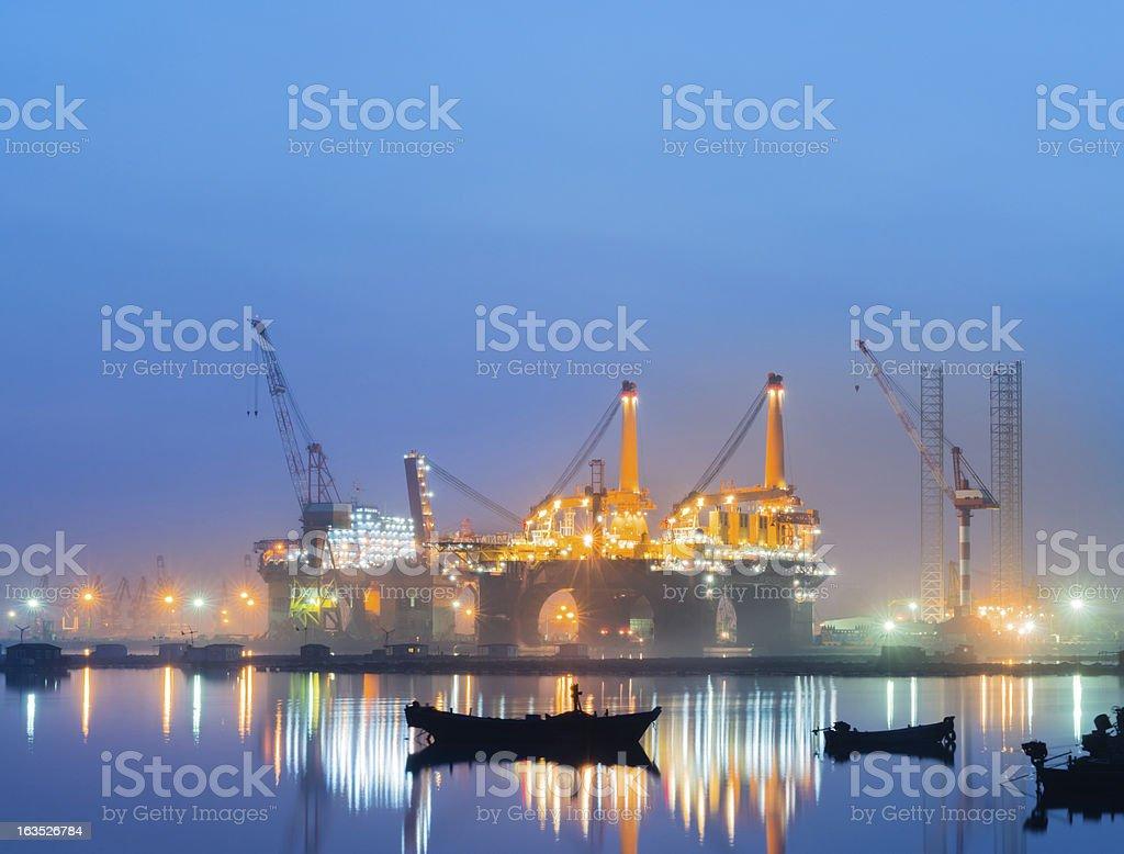 Oil Rig Production Platform stock photo