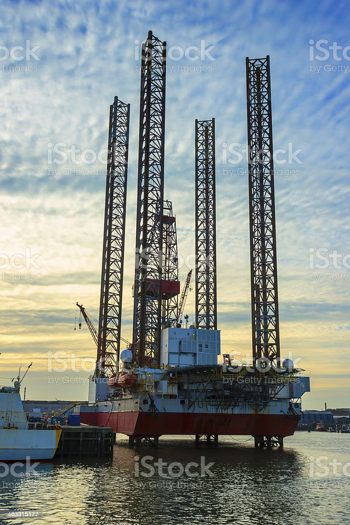 Oil Rig Repair stock photo