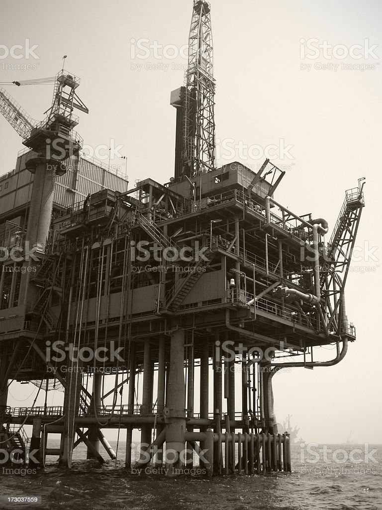 Oil Rig Resupply royalty-free stock photo