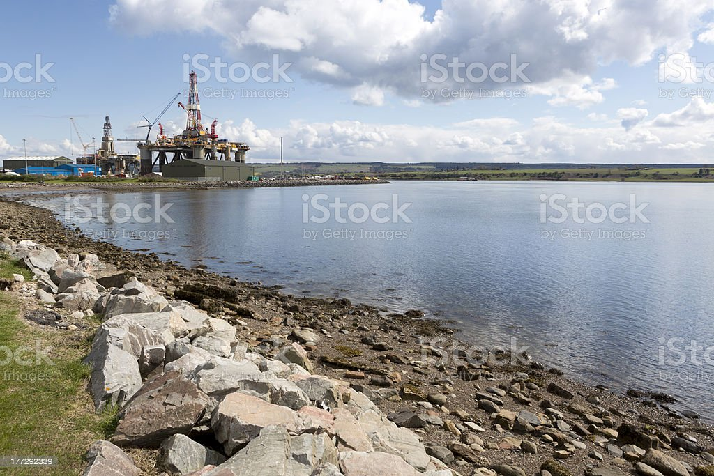 Oil Rig, Scotland royalty-free stock photo