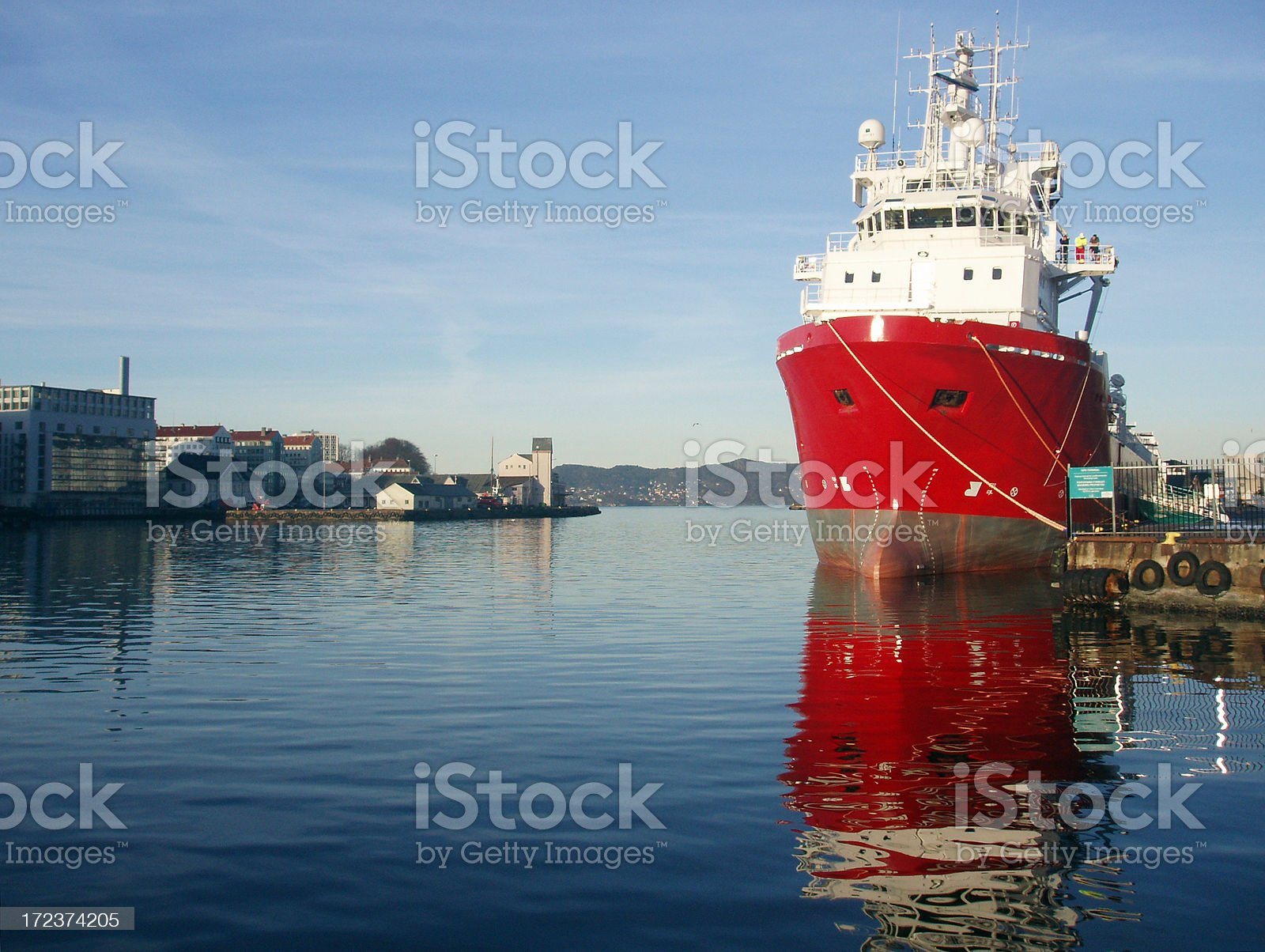oil rig supply boat royalty-free stock photo