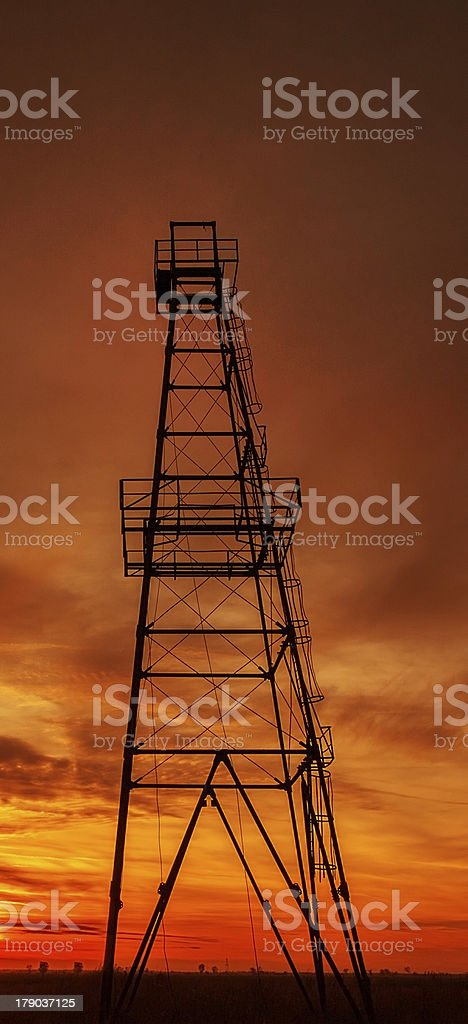 Oil rig tower royalty-free stock photo
