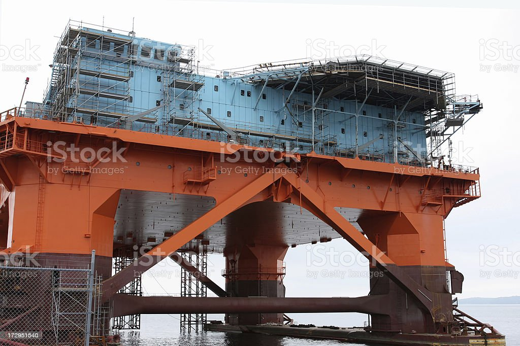 Oil Rig Under Construction royalty-free stock photo