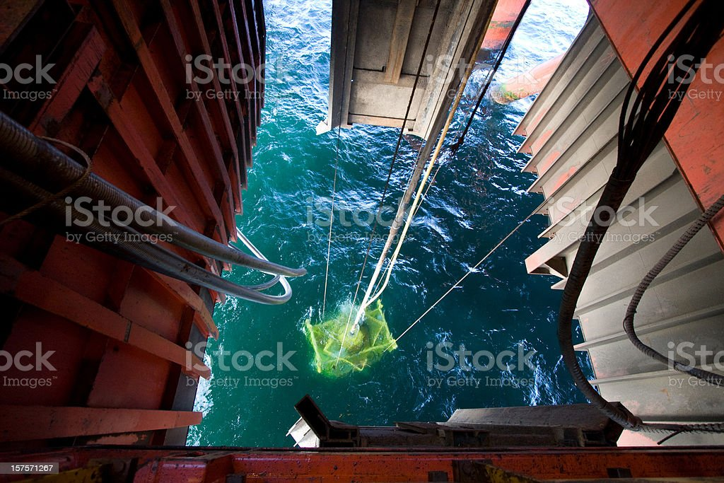 oil rig wellhead royalty-free stock photo