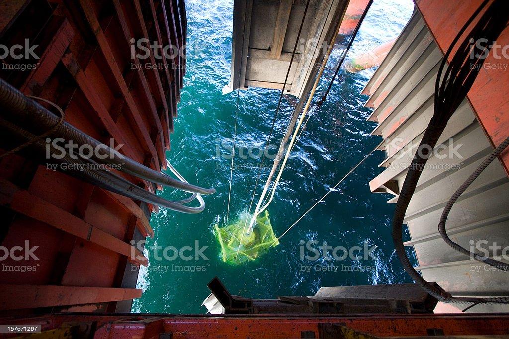 oil rig wellhead stock photo