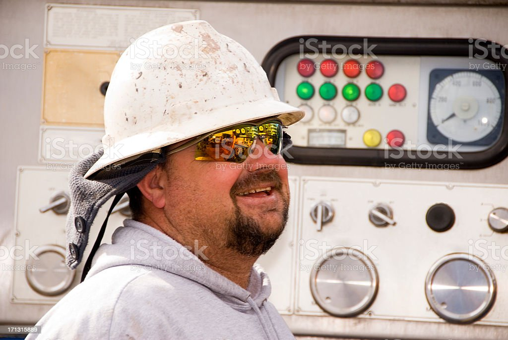 Oil Rig Worker stock photo