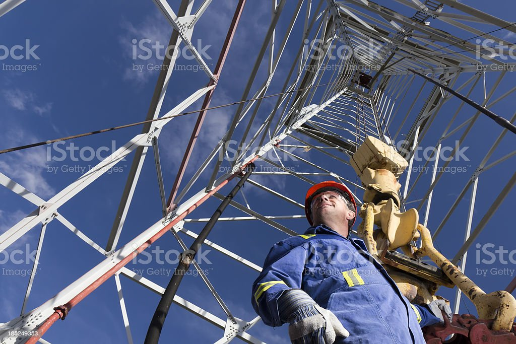 Oil Rig Worker royalty-free stock photo